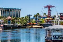 Disneyland, Anaheim, California, USA. Entertaining children`s attractions. Merry family holidays. Anaheim, Los Angeles, California, USA - June 13, 2017: Fun on Stock Photography
