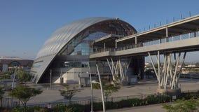 Anaheim Regionale ARTIC de Postbuitenkant van het Vervoers Intermodal Centrum stock footage