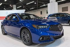 Acura TLX on display Stock Photography