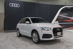 Audi Q3 on display Royalty Free Stock Images