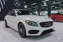Mercedes-Benz E300 on display stock photo