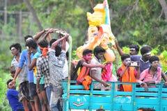 Anaipatti, Tamilnadu - India - September 15 2018: Ganesha Visarjan 2018 Stock Photography