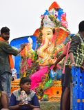 Anaipatti, Tamilnadu - India - September 15 2018: Vinayaka Chaturthi royalty-vrije stock afbeeldingen