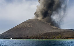 anak ηφαίστειο krakatau έκρηξης Στοκ Φωτογραφίες