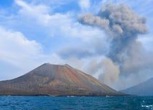anak ηφαίστειο krakatau έκρηξης Στοκ Εικόνες