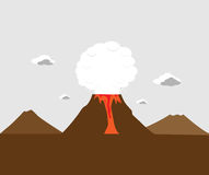 anak erupci Indonesia krakatau wulkan Obraz Royalty Free