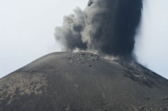 Anak Krakatau erupting Stock Photo