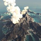 Anak Krakatau erupting Stock Image
