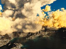 Anak Krakatau erupting Royalty Free Stock Photo