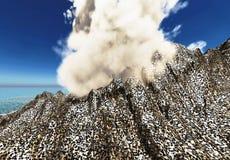 Anak Krakatau erupting Stock Images