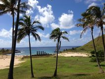 Anakena beach Royalty Free Stock Images