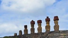 Anakena, Easter Island. Moai at Anakena, Easter Island, Chile Stock Photos