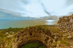 Anakopia fästning i Abchazien nya Athos Royaltyfria Foton