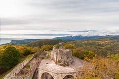 Anakopia fästning i Abchazien nya Athos Royaltyfri Bild