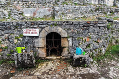 Anakopijskystabiliteit in de Iversky-berg, Nieuwe Abkhaz Athos, stock foto