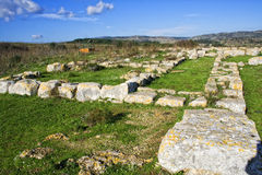 Anaktoron. Prehistoric and megalitic construction in the Pantalica land. Location Sicily Stock Image