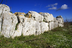 Anaktoron. Prehistoric and megalitic construction in the Pantalica land. Location Sicily Royalty Free Stock Images