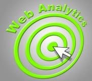 A analítica da Web indica do aperfeiçoamento e o Web site da análise ilustração stock