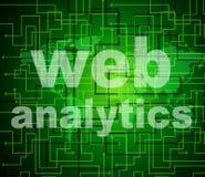 A analítica da Web indica a informação e a pesquisa de aperfeiçoamento ilustração do vetor