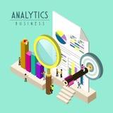 Analítica do negócio Foto de Stock
