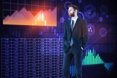 Analítica e conceito da finança fotografia de stock royalty free