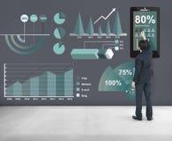 Analítica que introduz no mercado o conceito do relatório comercial imagem de stock royalty free