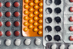 Analgésicos, tabuletas, comprimidos genéricos Fotos de Stock Royalty Free