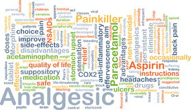 Analgesic background concept Royalty Free Stock Image