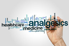 Analgesics word cloud Royalty Free Stock Images