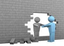 Analice las barreras stock de ilustración
