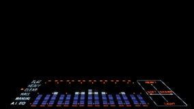 Analisador de espectro acústico do equalizador da imagem EQ ilustração stock