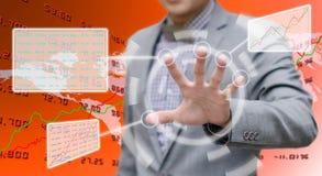 Analisador que trabalha com tela táctil Imagens de Stock Royalty Free