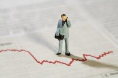 Analisando estatísticas de negócio Fotos de Stock