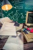 Analisando o código de programação da escola Fotos de Stock Royalty Free