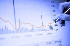 Analisando o mercado imagens de stock royalty free