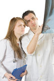 Analisando a radiografia Imagens de Stock