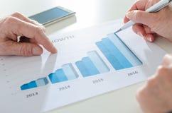 Analisando resultados crescentes Imagens de Stock Royalty Free
