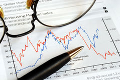 Analise a tendência do investimento Fotos de Stock Royalty Free