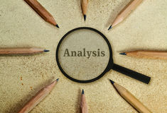 analisi fotografia stock
