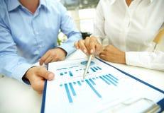 Analisi commerciale Fotografia Stock
