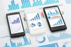 Analisi dei dati del telefono cellulare fotografia stock