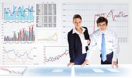 Analisi dei dati di affari Immagine Stock Libera da Diritti
