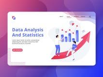 Analisi dei dati e statistiche d'atterraggio della pagina royalty illustrazione gratis