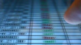 Analisi dei dati finanziaria stock footage