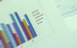 Analisi dei rapporti finanziari Immagini Stock