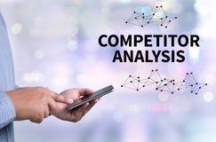 Analisi del concorrente immagini stock
