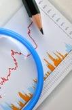 Analisi del grafico commerciale Immagine Stock Libera da Diritti
