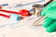 Analisi del sangue di biochimica immagine stock