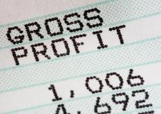 Analisi dell'istruzione profitti e perdite di affari Fotografia Stock