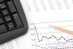 Analisi della percentuale del mercato Immagine Stock